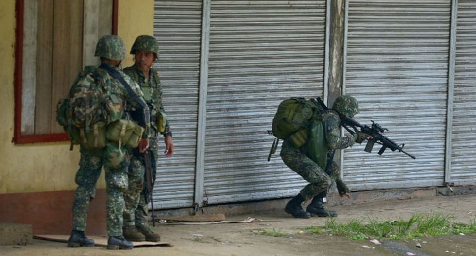 US troops on the ground in war-ravaged Philippine city: military