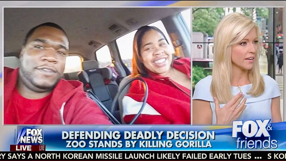 Fox & Friends cites 'rap sheet' of black dad who wasn't at zoo to blame him for gorilla's death