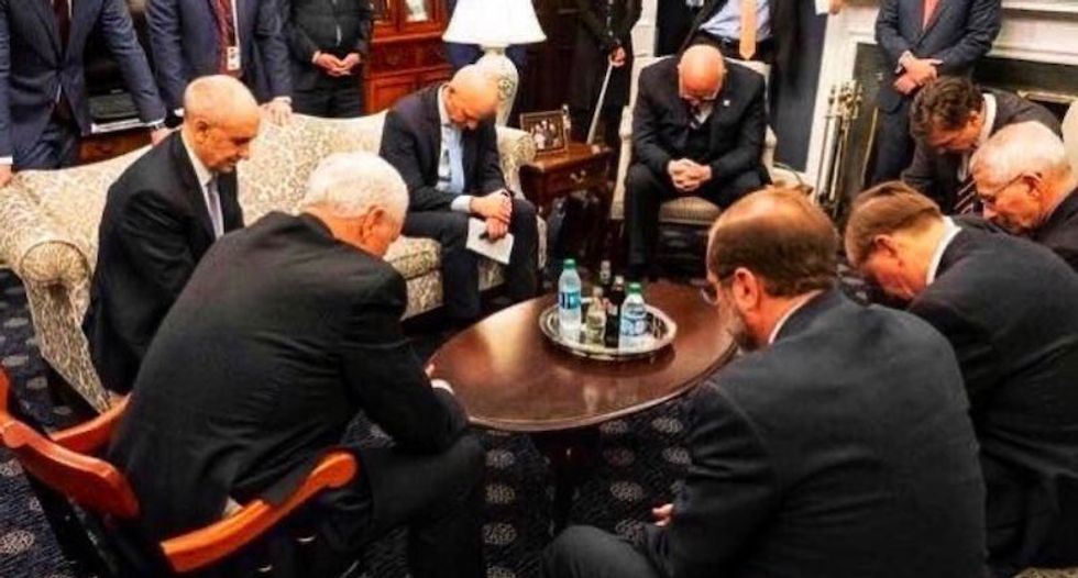 There's every reason to be skeptical of Mike Pence's Coronavirus prayer circle
