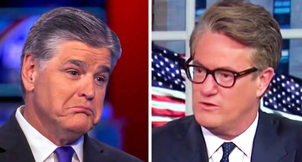 Trump threatened to give Scarborough lunch invite to Hannity during high school-level screaming phone call