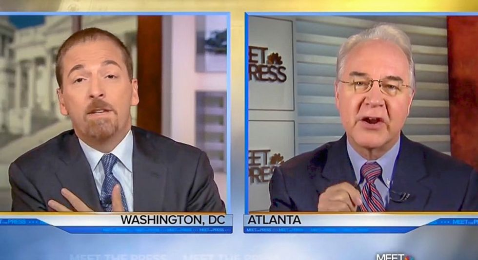 'You're blaming me?' Chuck Todd nails Tom Price for claiming Trump's tweets are beneath dignity of TV news