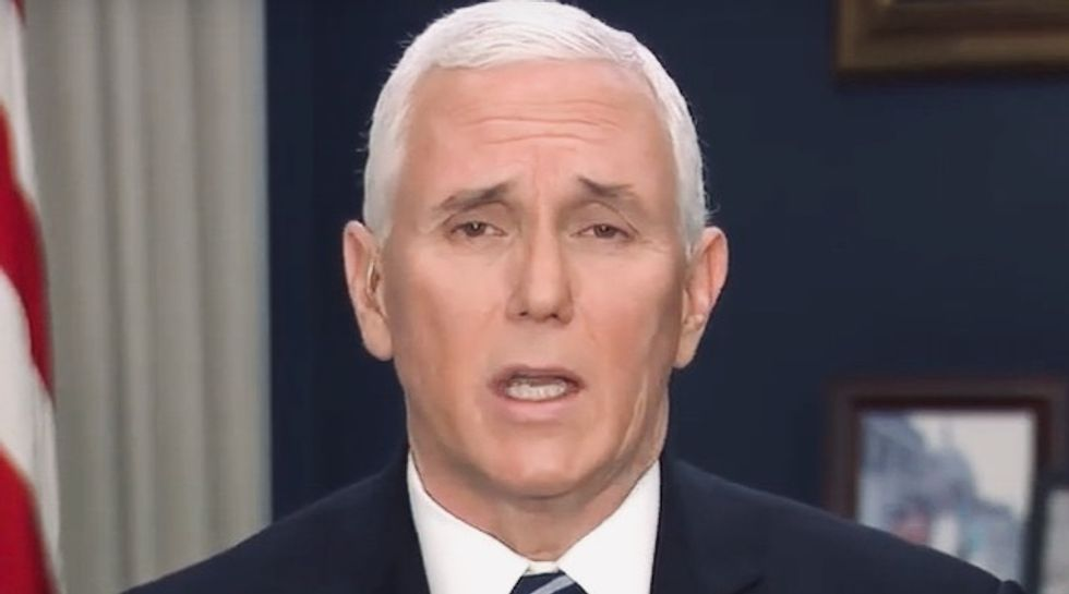 WATCH: Devastating supercut video blows up Pence's defense of Trump's handling of coronavirus