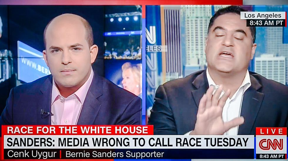 'That is not journalism': Cenk Uygur goes off on CNN host for counting superdelegates