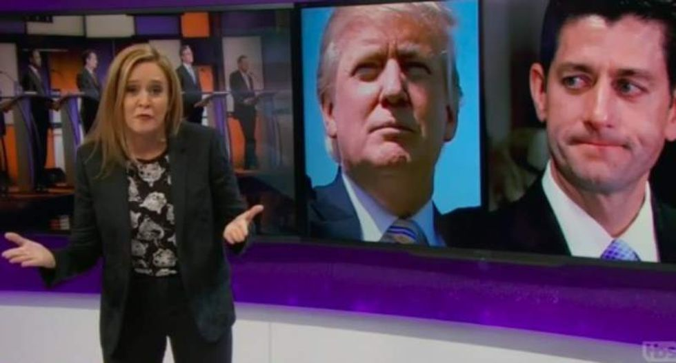 Samantha Bee shreds Paul Ryan: Trump isn't what the GOP stands for -- 'he's what they bend over for'