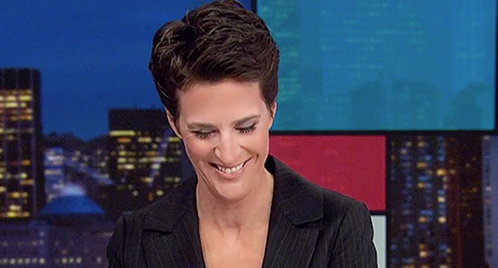 MSNBC's Rachel Maddow chuckles at the bizarre place Trump will be forced to meet the Irish Prime Minister