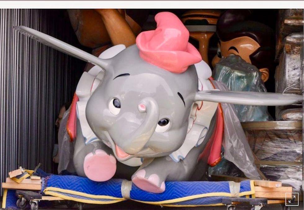 Dumbo flies off for $483,000 in $8.3 million Disneyland auction