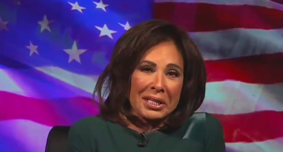 The internet is wondering if Fox News' Jeanine Pirro was drinking before her Saturday night show