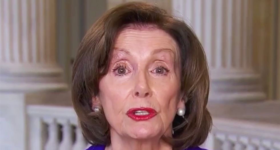 Pelosi drops the mic on Trump over his COVID-19 pandemic failures: 'As the president fiddles, people are dying'