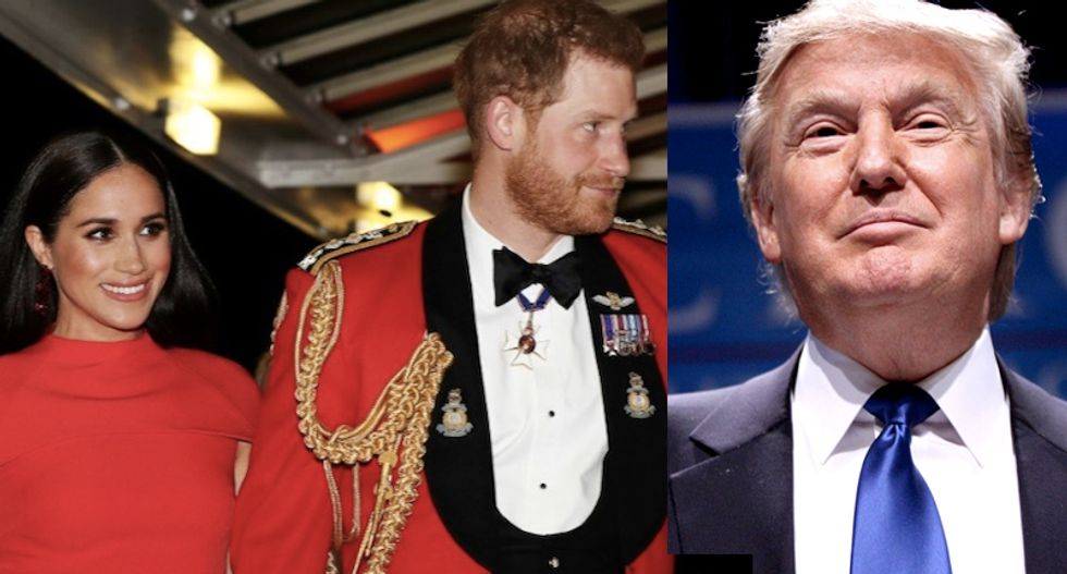 Trump refuses to give Harry and Meghan security in Los Angeles -- but he hasn't paid his security bills in years