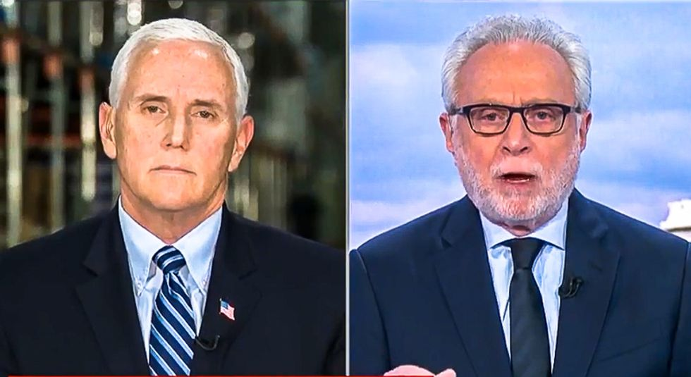 Wolf Blitzer spars with Pence: 'It would have been good if the president wasn't belittling the pandemic'
