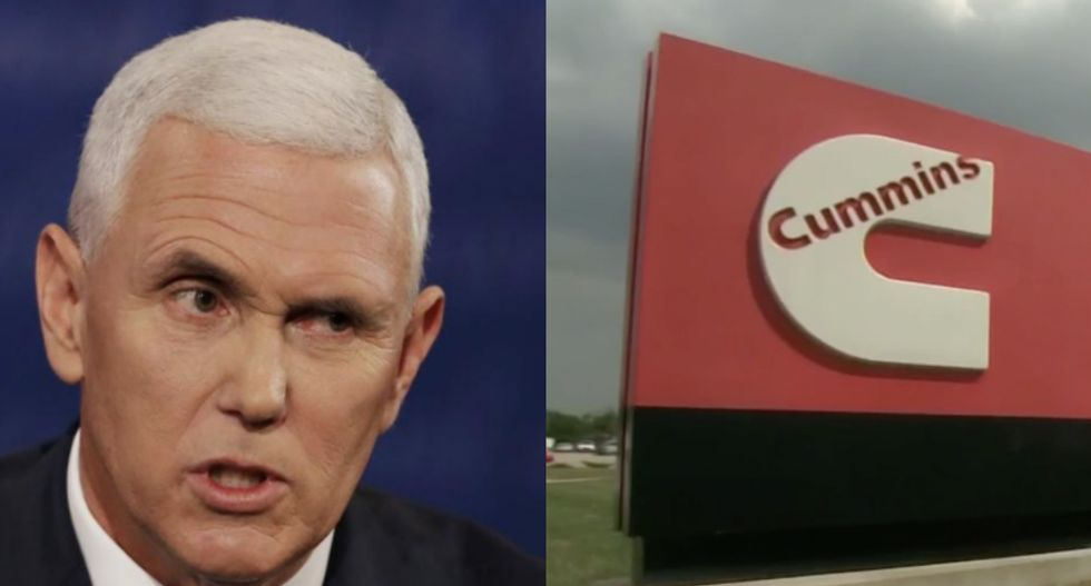 Engine plant in Mike Pence's hometown takes $200 million hit from Trump trade war