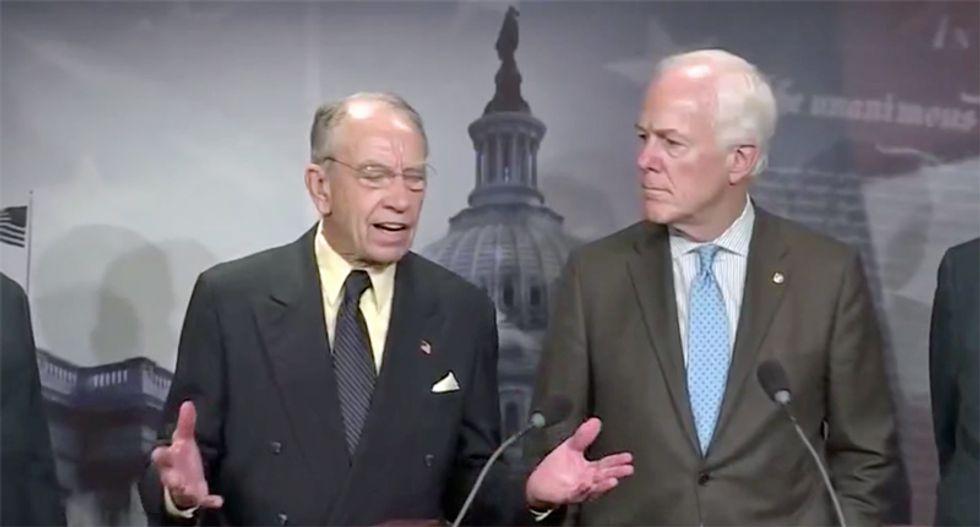 'It's a mess': Republican senators in panic over Trump's purge of DHS