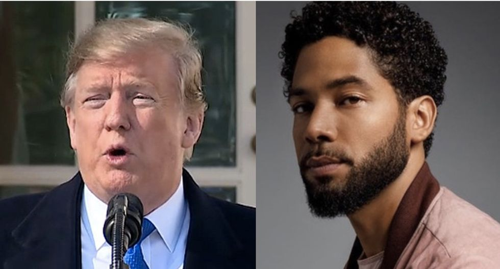 Trump makes Jussie Smollett scandal all about himself and his supporters in angry tweet