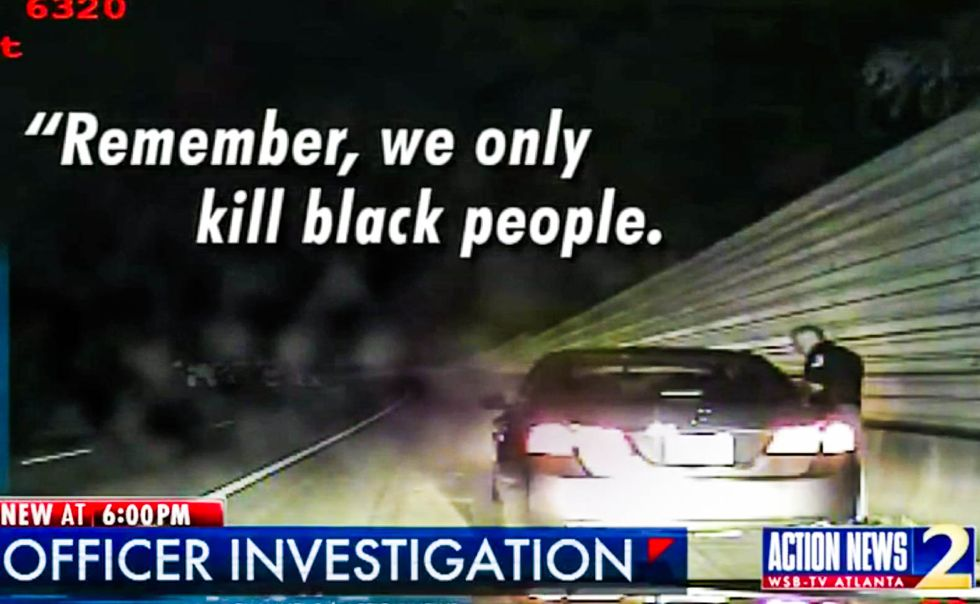 'We only kill black people': Georgia cop caught on video reassuring nervous white woman during traffic stop