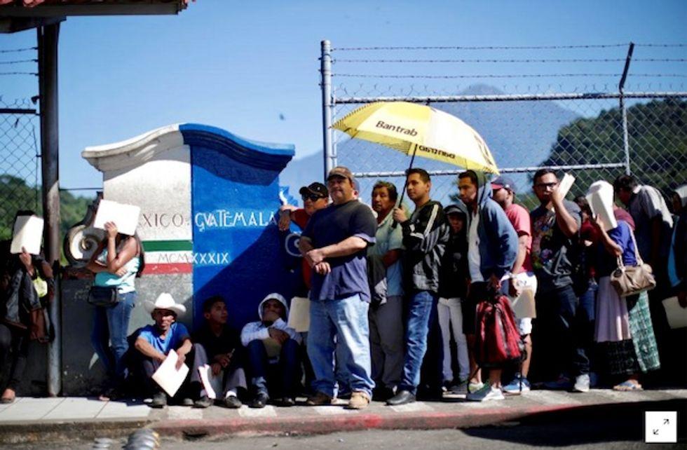 Second migrant caravan in Guatemala heads toward Mexico