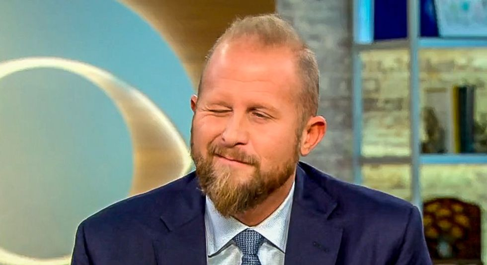 Trump 2020 campaign manager ends CBS interview by winking at two women hosts