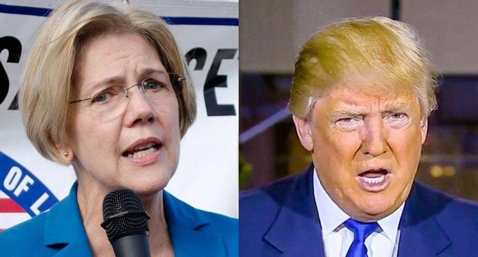 Donald Trump goes off the rails after Elizabeth Warren's online attack