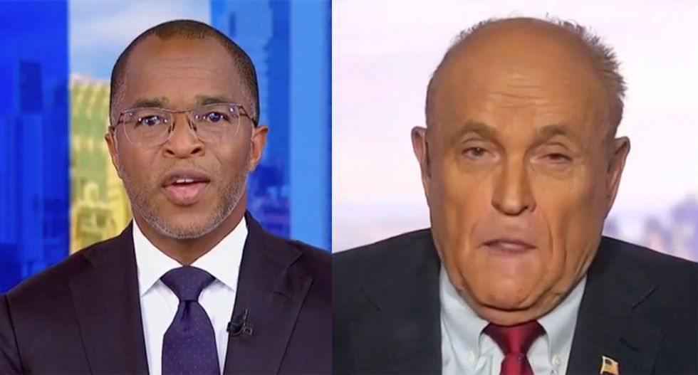 WATCH: Rudy Giuliani snaps at MSNBC's Capehart when cornered on meetings with Russian spy