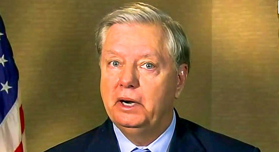 'A crime in plain sight': Lindsey Graham under fire for breaking law in Senate building