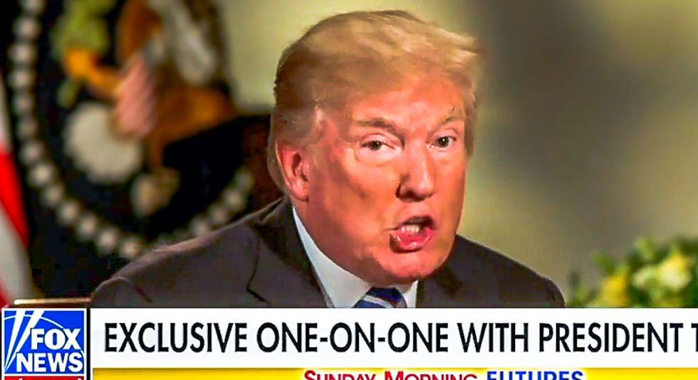 Trump just gave away the game on his bribery scheme in a live interview to baffled Fox News hosts