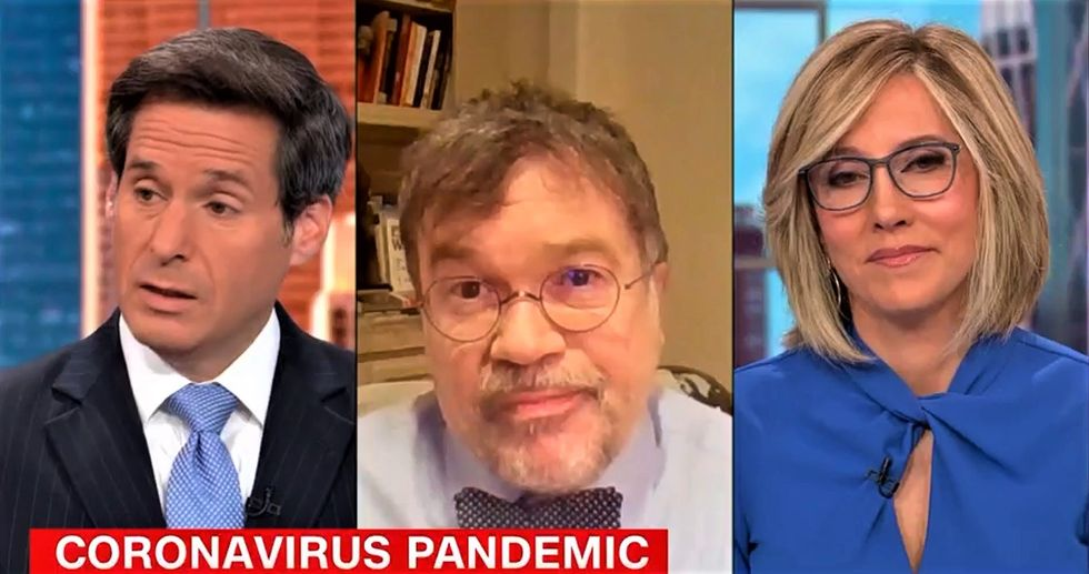 CNN hosts visibly unnerved after hearing doctor's 'bleak' new COVID projections