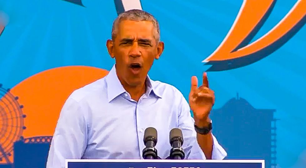 Obama lays bare Trump's TV ratings fixation: 'He's jealous of COVID's media coverage'