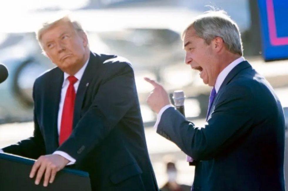 Trump praises Brexit leader Nigel Farage as 'king of Europe'