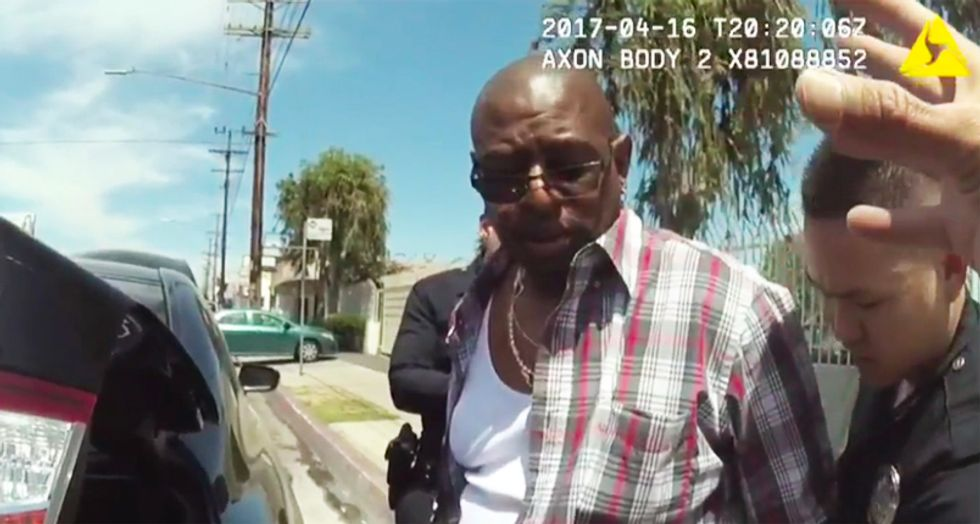BUSTED: Watch LA cops plant drugs in black suspect's wallet - unaware their body cams were on