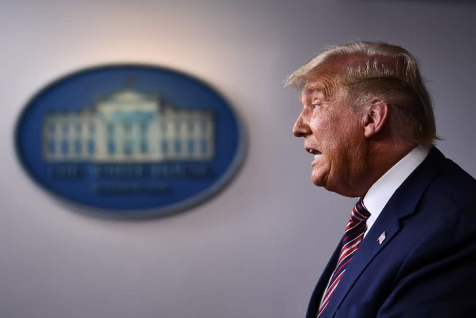 President Donald Trump erupts as Joe Biden closes in on presidency