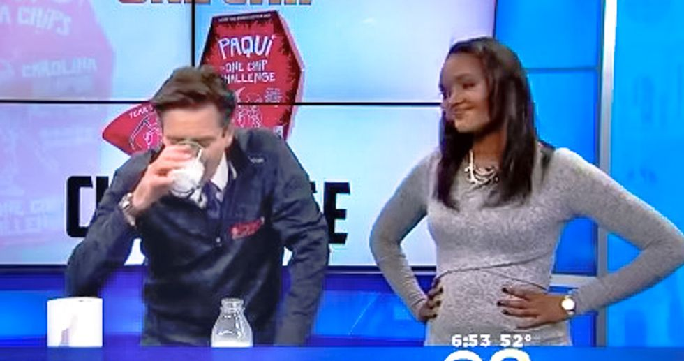 WATCH: White TV anchor insists on pain challenge against Ethiopian woman -- and gets hilariously smoked