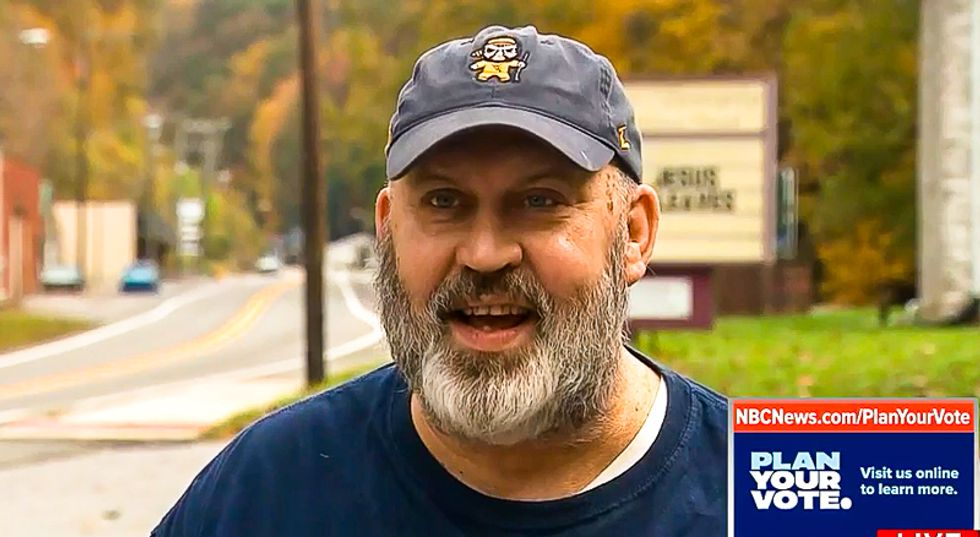 West Virginia voter: 'I'll probably vote for Donald Trump' because 'he keeps the people to the TV set'