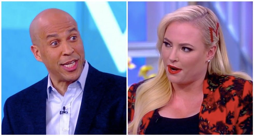 Cory Booker shames The View's Meghan McCain for trying to mock him with right-wing talking point