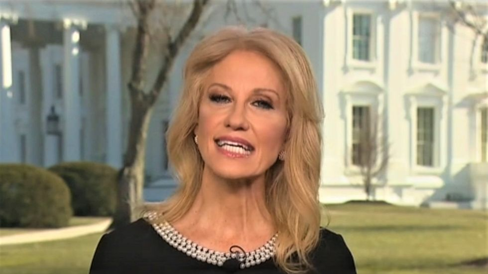 Kellyanne Conway fumbles question on Trump's fights with intel chiefs: 'He doesn't distrust' them -- he just doesn't believe them