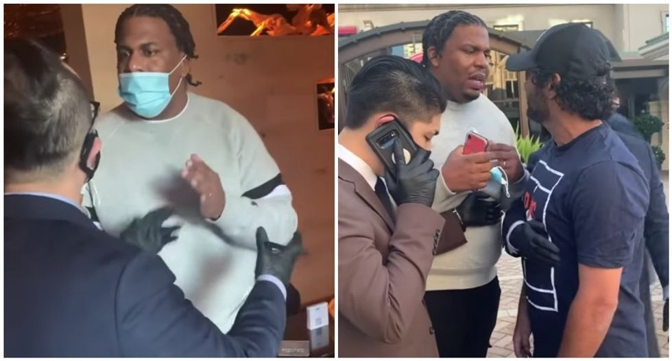 WATCH: Black man booted from sushi restaurant for wearing sneakers while white woman in sneakers is allowed to stay