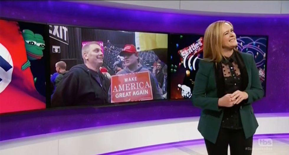 Samantha Bee dismantles 'white pride curious' Donald Trump and his alt-right 'Jew-baiting' fanboys
