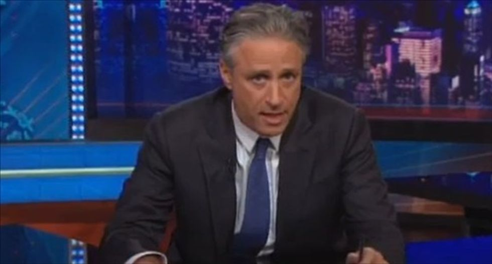 Jon Stewart hammers 'fat motherf*ckers' in Congress with 'Schoolhouse Rock' update