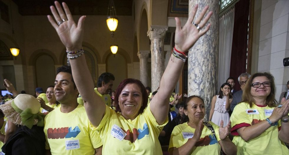 Los Angeles city council approves raising hotel worker wages to $15.37 per hour