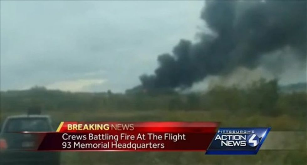 Fire causes heavy damage to 9-11 memorial in Pennsylvania