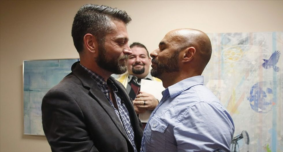 Same-sex couples rush to get marriage licenses after Supreme Court's inaction