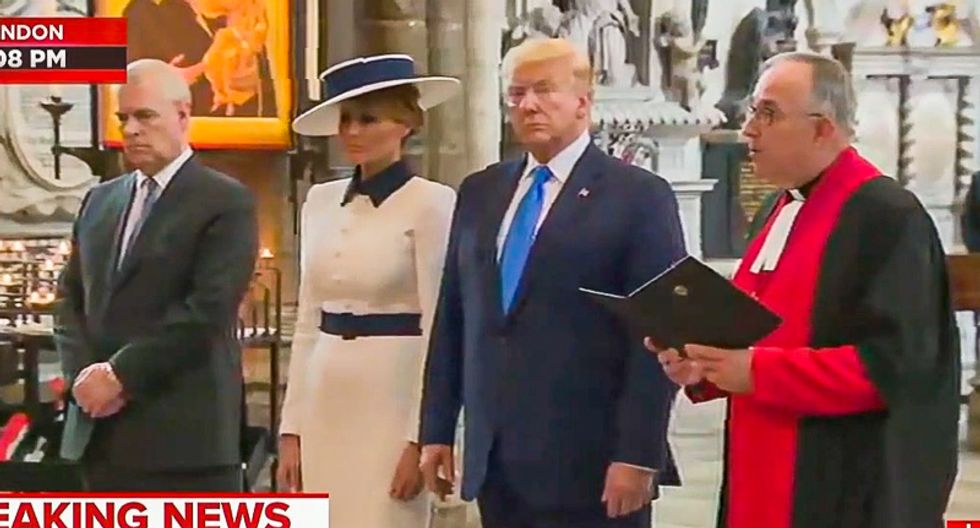 Trump praised for acting 'appropriately' during Westminster Abbey ceremony