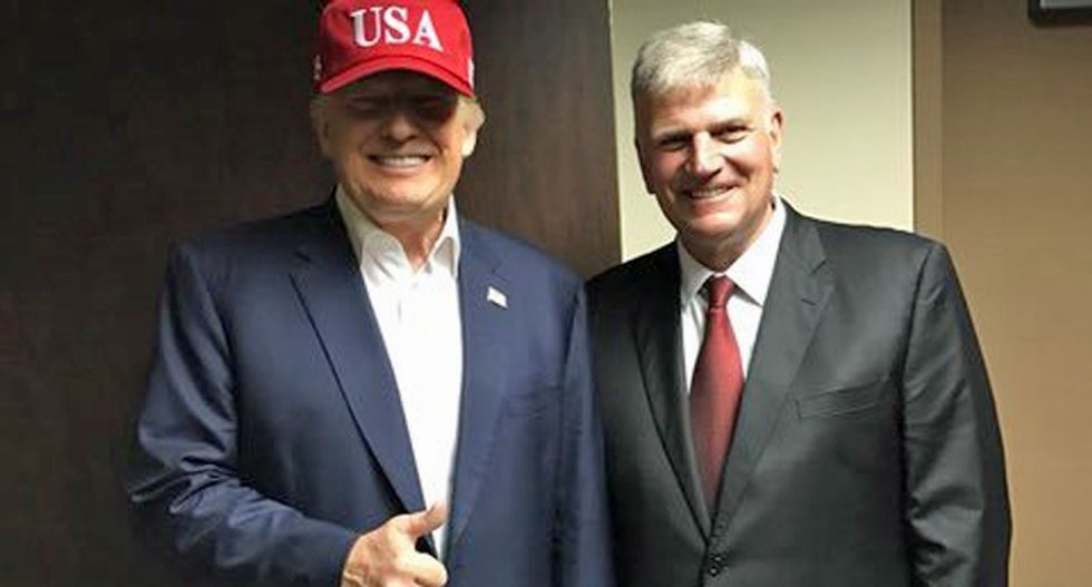 'Scandalous' Trump-loving Franklin Graham is leading evangelicals into the 'abyss of hypocrisy': Christian author