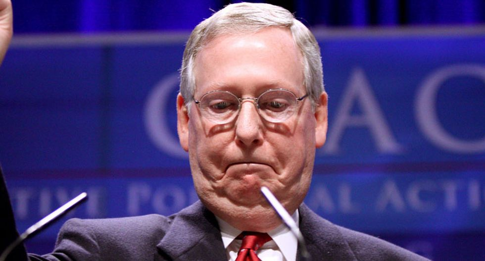 #MitchPlease blows up on Twitter after McConnell blamed impeachment for Trump's coronavirus failures