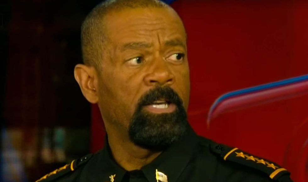 'F*ck you and the horse you rode in on': Sheriff Clarke explodes after reporter asks about his security detail