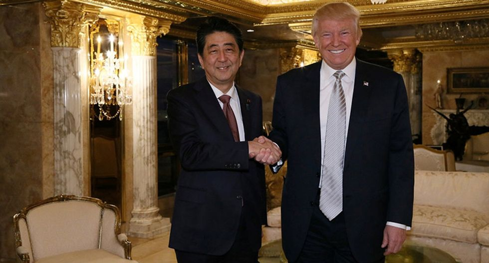 Trump, Japan's Shinzo Abe to spend time at Trump resort in Fla. after meeting: White House