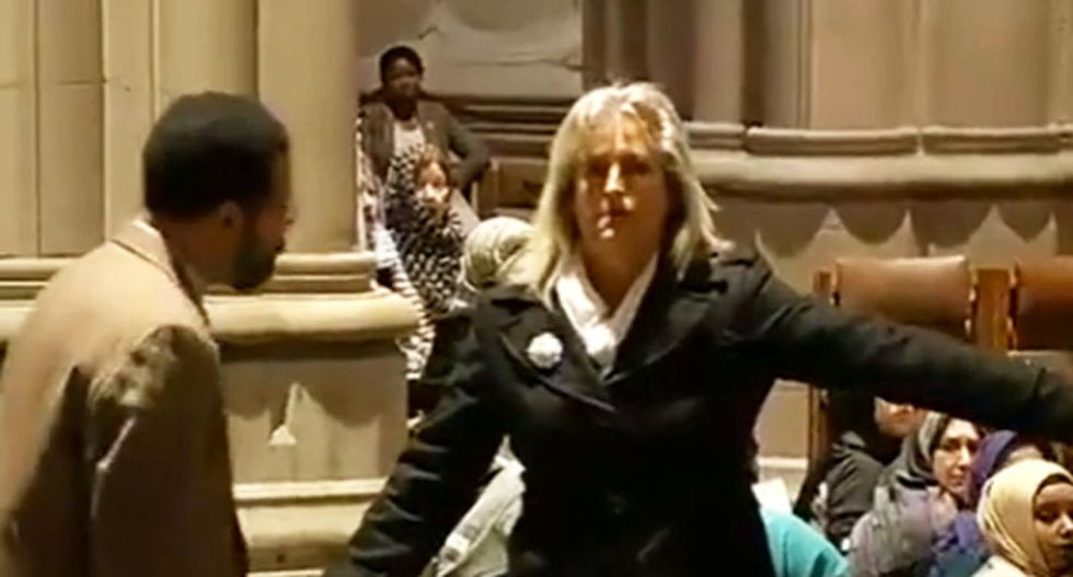 Disrupter of Muslim prayer at National Cathedral: God and Drudge sent me
