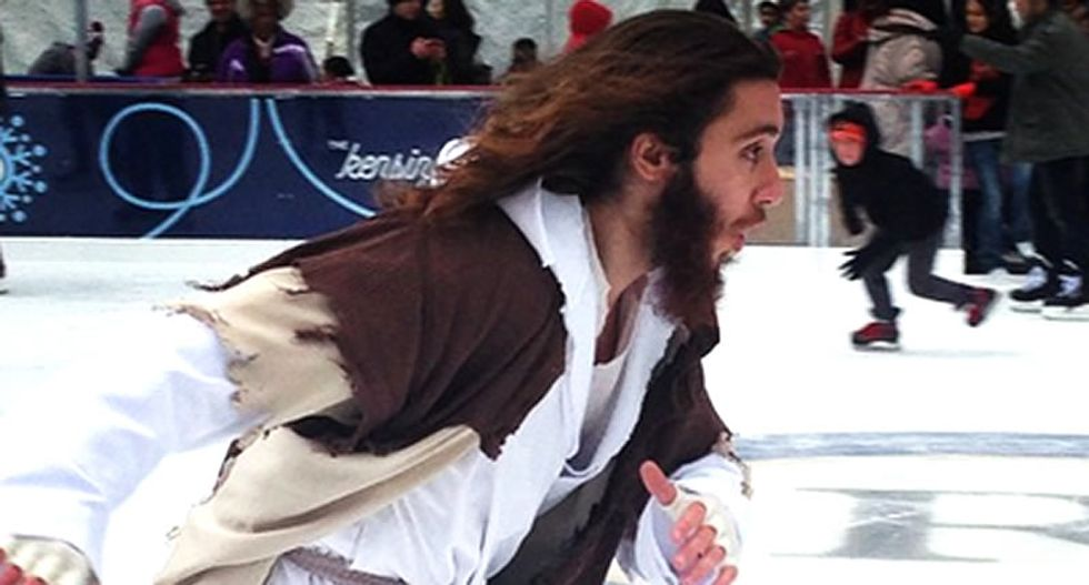 Cops arrest 'Philly Jesus' after accusing him of begging in LOVE Park