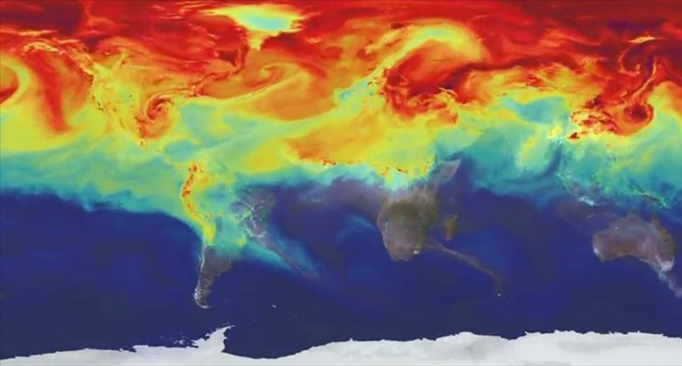 This is what your atmosphere looks like on carbon dioxide