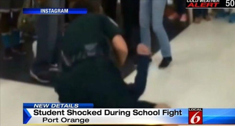 Florida cop caught on video using Taser to break up fighting high schoolers