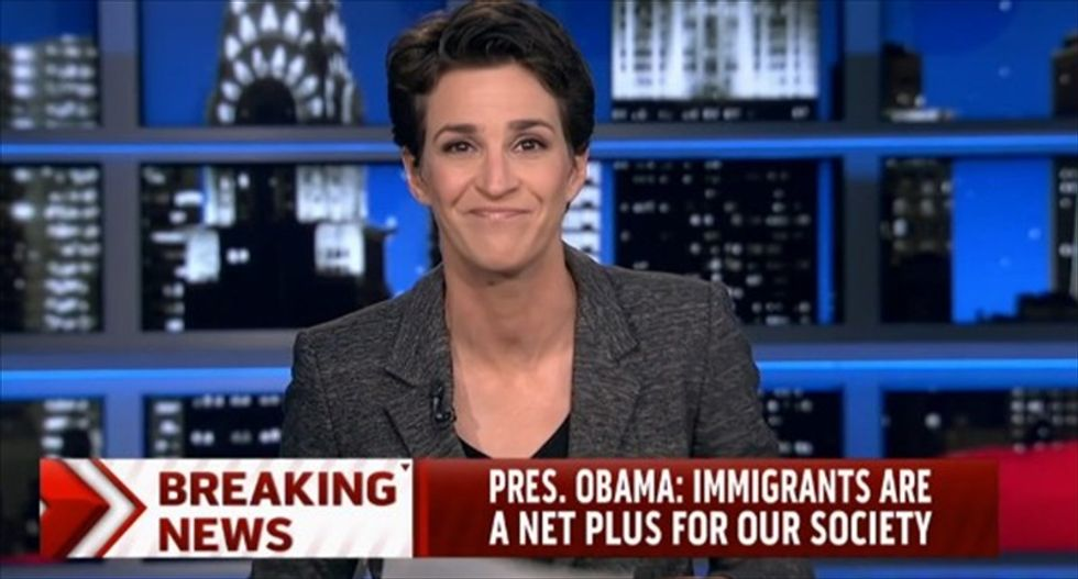 Maddow: GOP and talk radio were 'elated' to fight George W. Bush on immigration, too