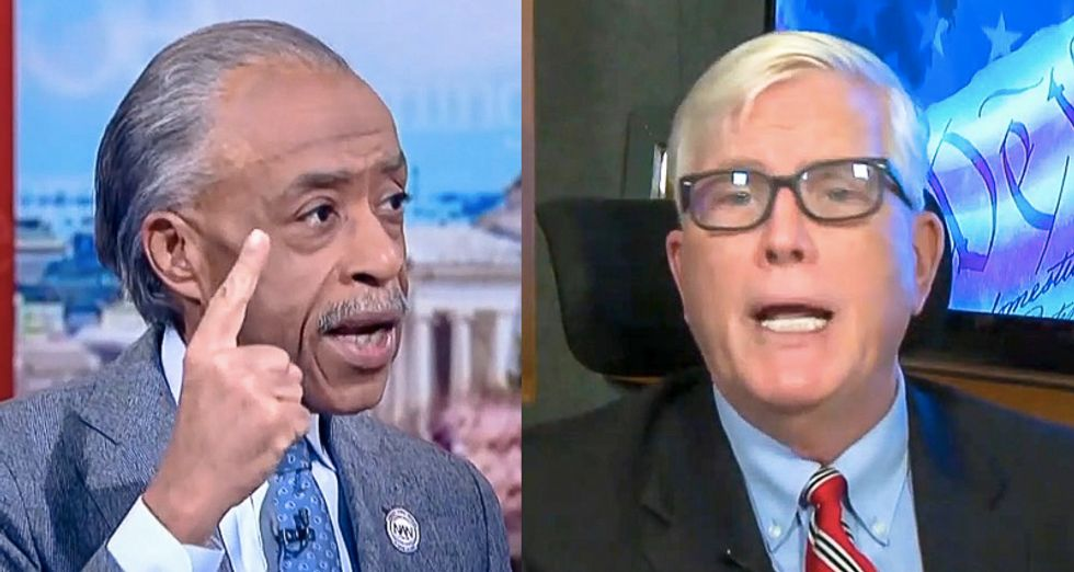 WATCH: Al Sharpton flattens conservative Hugh Hewitt for claiming George Floyd to blame for COVID-19 spikes